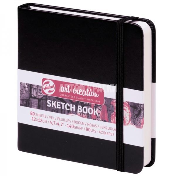 """Cкетчбук для рисования Royal Talens """"Art Creation"""" черный 12х12 см 80 листов"""