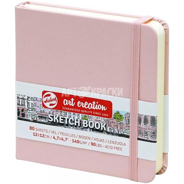 """Cкетчбук для рисования Royal Talens """"Art Creation"""" розовый 12х12 см 80 листов"""