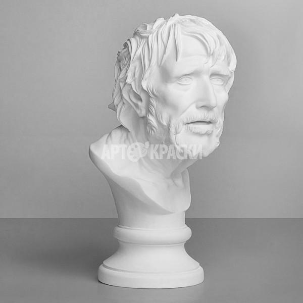 Голова Сенеки из гипса