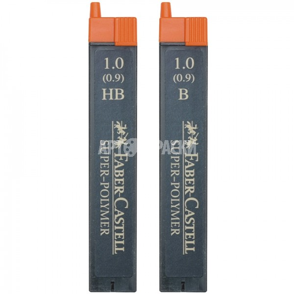 """Грифели для механических карандашей 1.0 мм Faber-Castell """"Super-Polymer"""" 12 шт"""