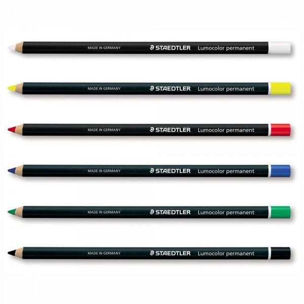 "Карандаши по любой поверхности STAEDTLER ""Lumocolor Permanent"" по цветам"