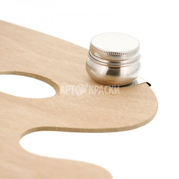 Масленка металлическая с крышкой для живописи Ø 4,2 см