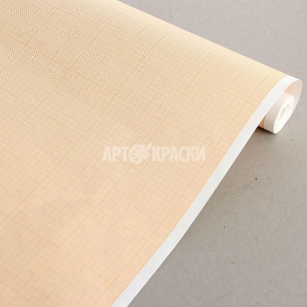 """Миллиметровая бумага в рулоне """"Лилия Холдинг"""" оранжевая 878 мм*10 метров"""