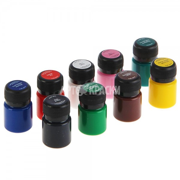 Набор акриловых глянцевых красок DECOLA 9 цветов 20мл