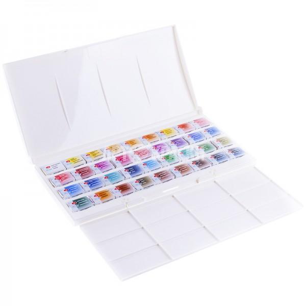 """Набор акварельных красок """"Белые ночи"""" 36 цветов с палитрой"""