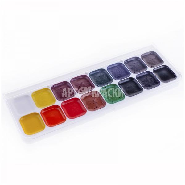 """Набор акварельных красок """"Люкс"""" 16 цветов"""