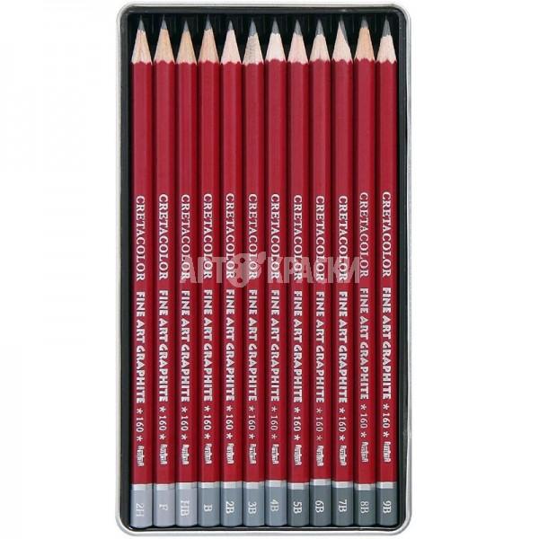 """Набор чернографитных карандашей для рисунка Cretacolor """"CLEOS"""" 12 шт"""