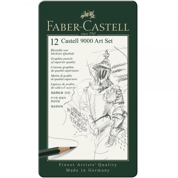 """Набор чернографитных карандашей Faber-Castell """"Castell 9000 Art Set"""" 12 шт"""