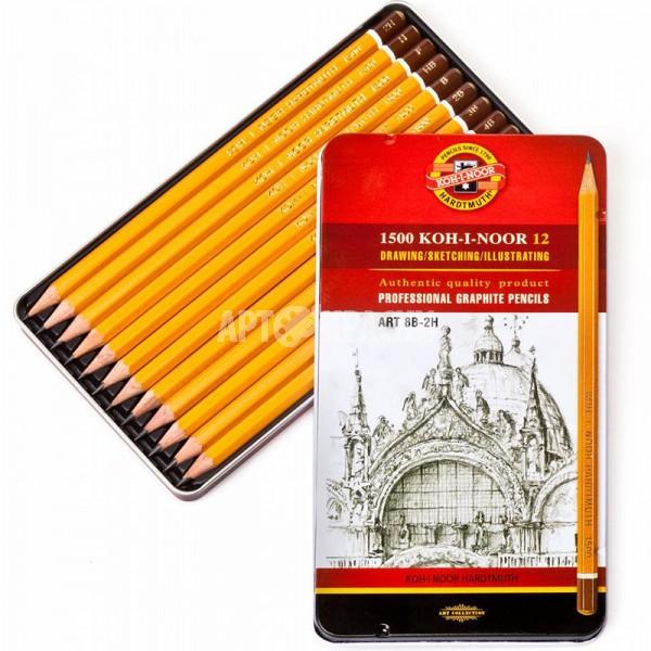 """Набор чернографитных карандашей Koh-I-Noor """"ART"""" 1502 12 шт"""