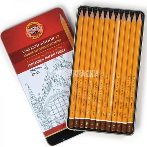 """Набор чернографитных карандашей Koh-I-Noor """"GRAPHIC"""" 1502 12 шт"""