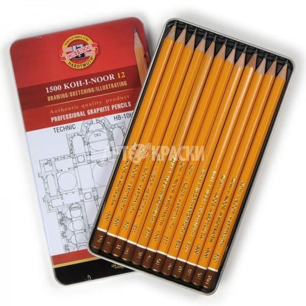 """Набор чернографитных карандашей Koh-I-Noor """"TECHNIC"""" 1502 12 шт"""