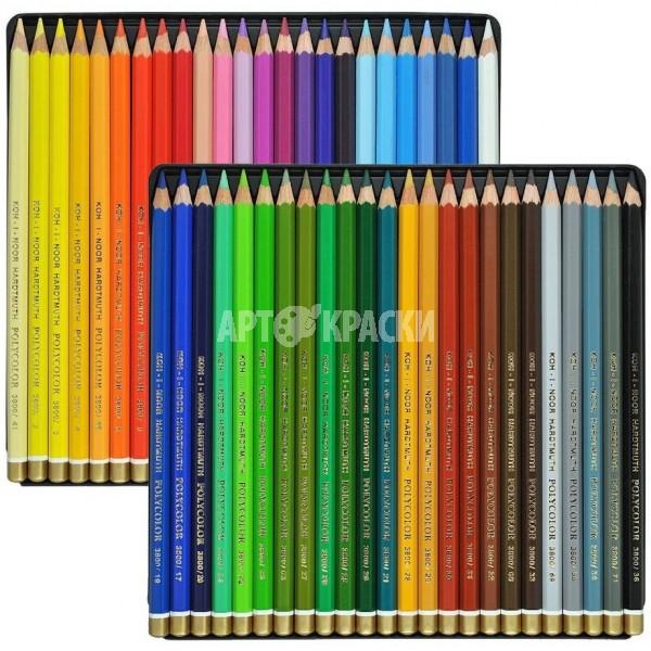 """Набор цветных карандашей Koh-i-Noor """"Polycolor"""" 48 цветов в пенале"""