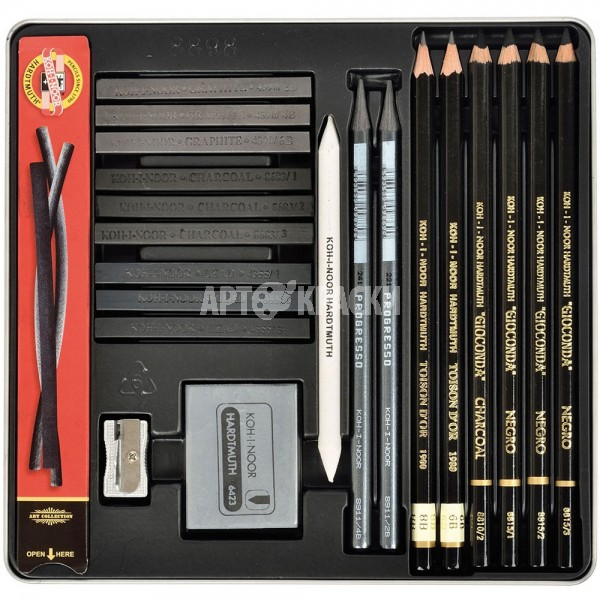 "Набор для графики Koh-I-Noor ""Gioconda Art Set"" 23 предмета"