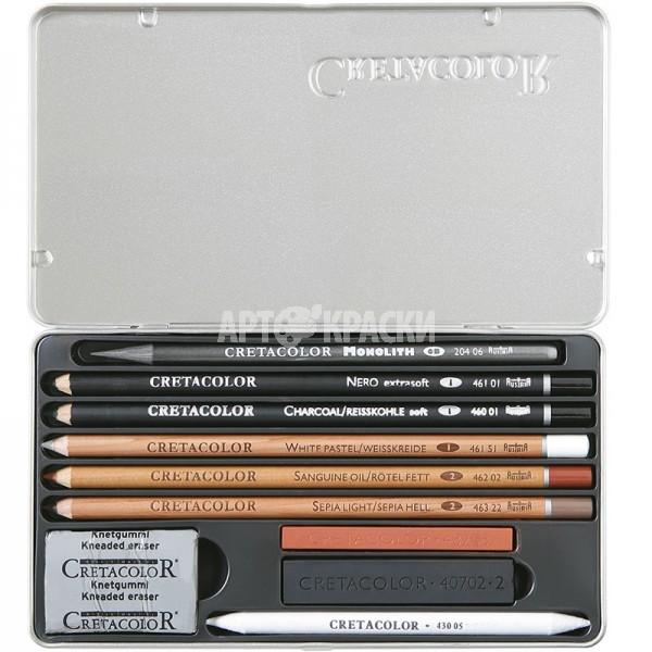 """Набор для эскизов Cretacolor """"Artino Drawing Set"""" 10 предметов"""