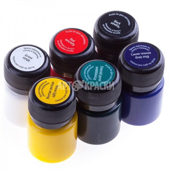 """Набор красок по стеклу и керамике """"DECOLA"""" 6 цветов"""