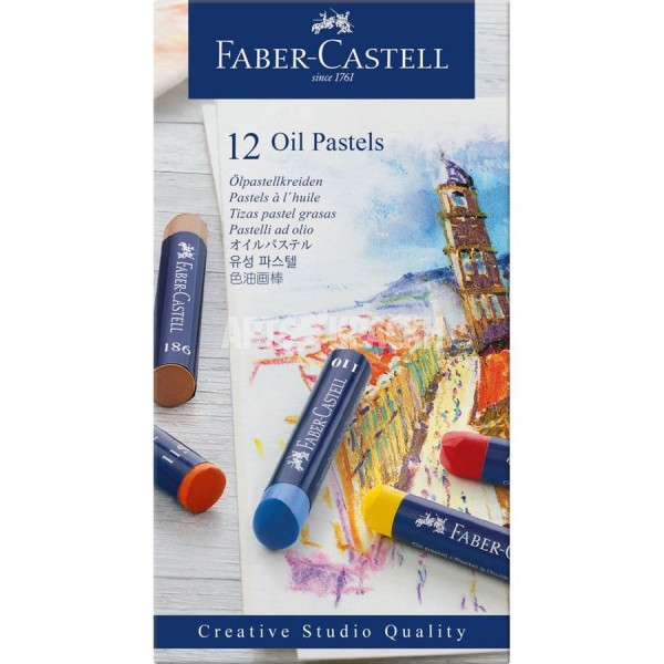 "Набор масляной пастели Faber-Castell ""Oil Pastels"" 12 цветов"