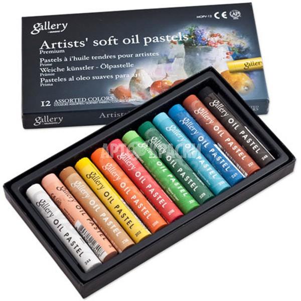 Набор масляной пастели Mungyo Artists Gallery Soft Oil Pastels 12 цветов