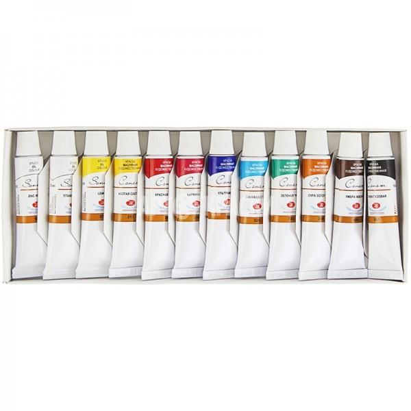 Набор масляных красок СОНЕТ 12 цветов, 10мл
