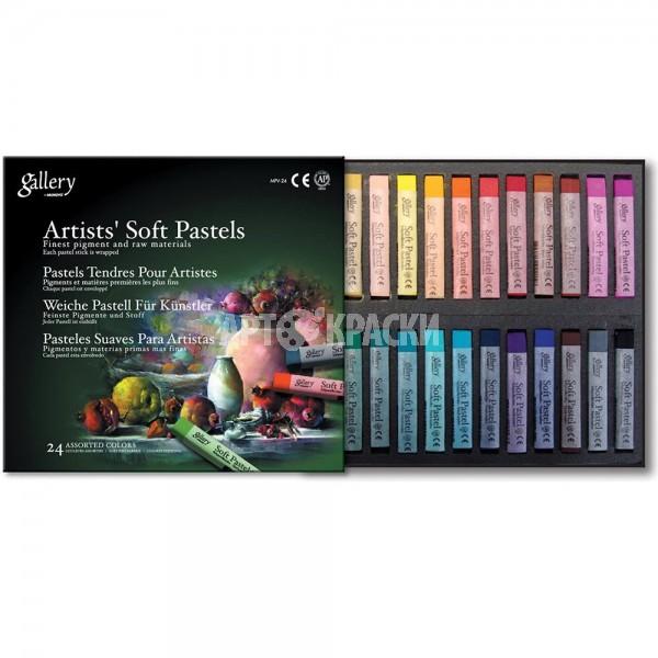 """Набор мягкой сухой пастели Mungyo """"Gallery Artist Soft Pastels"""" 24 цвета"""