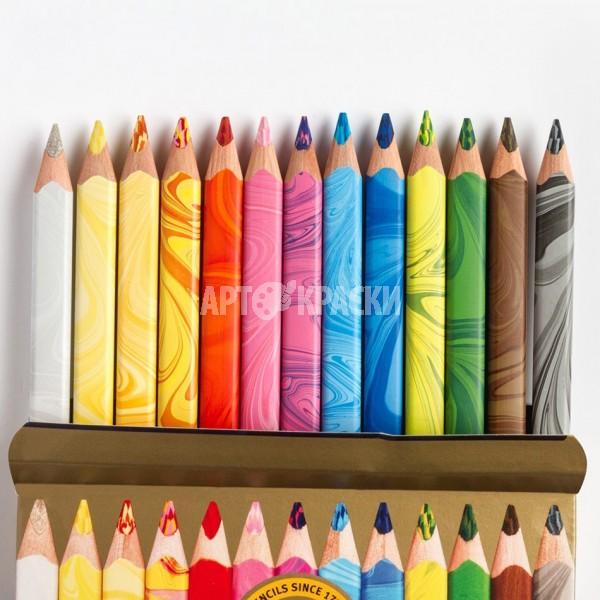 """Набор многоцветных карандашей Koh-I-Noor """"Magic"""" 12 цветов + блендер"""
