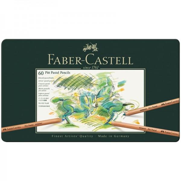"""Набор пастельных карандашей Faber-Castell """"Pitt Pastel"""" 60 цветов в пенале"""