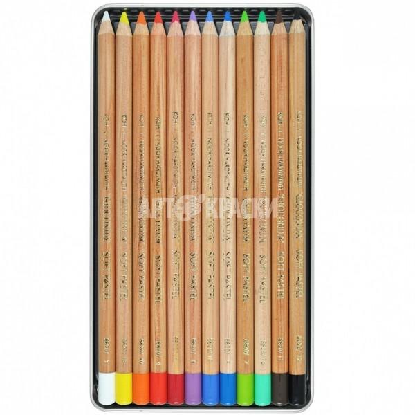 """Набор пастельных карандашей Koh-I-Noor """"Gioconda"""" 12 цветов в пенале"""