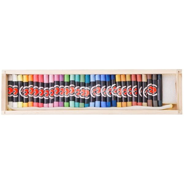 Набор сухой пастели «Подольск Арт-Центр» 30 цветов в деревянном пенале