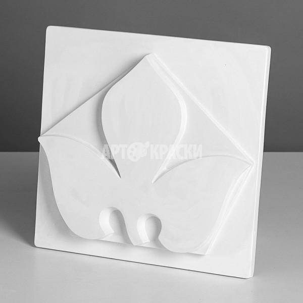 Орнамент Трилистник в пятиугольнике из гипса