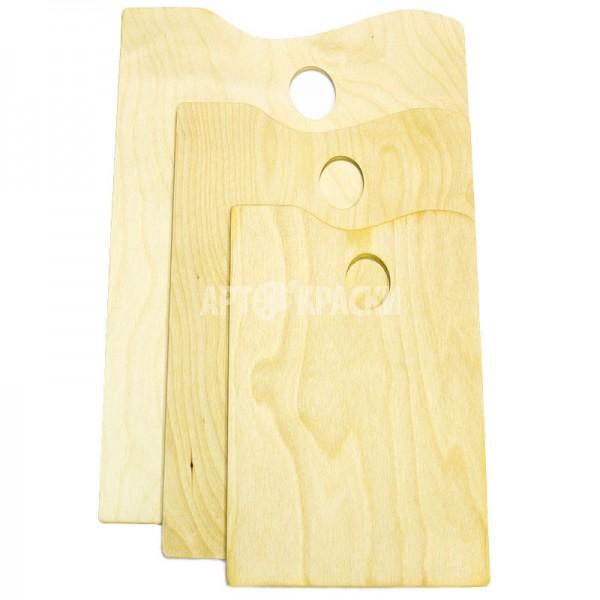 Палитра деревянная прямоугольная большая