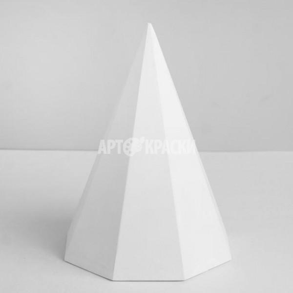Пирамида 8 гранная из гипса