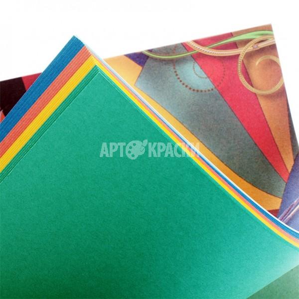 """Планшет цветного картона А4 """"Калейдоскоп"""" 20 листов 4 цвета"""