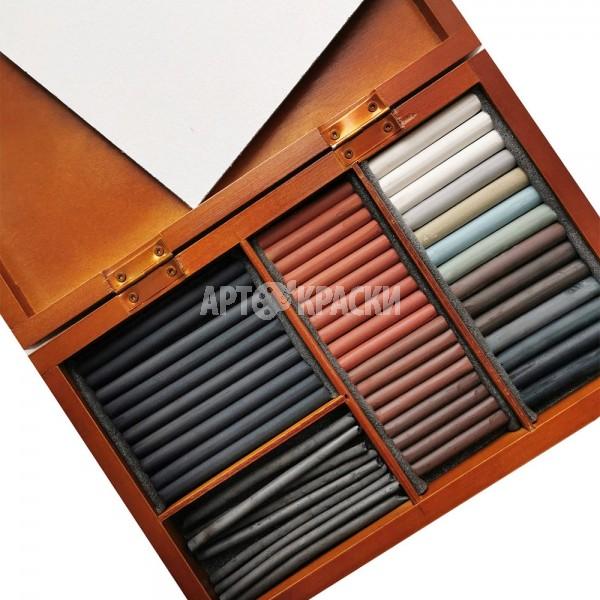 Подарочный набор для эскизов «Подольск Арт-Центр» в деревянном пенале