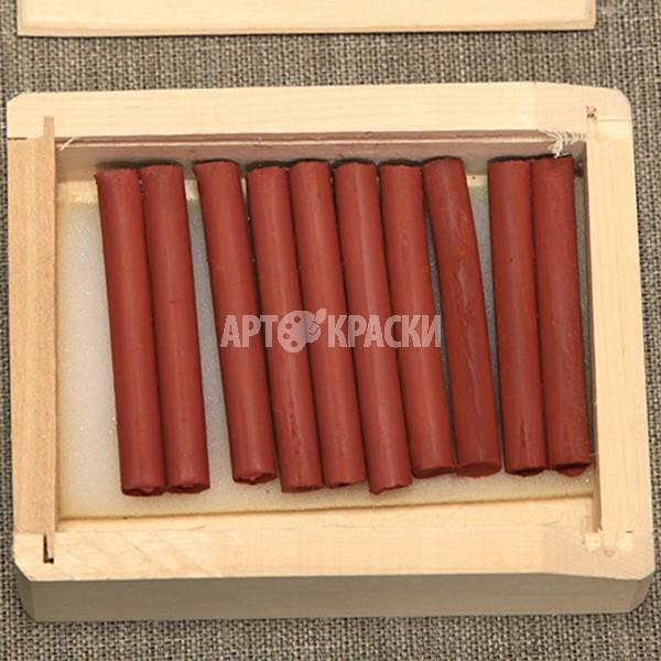 Сангина светлая 10 шт в деревянном пенале