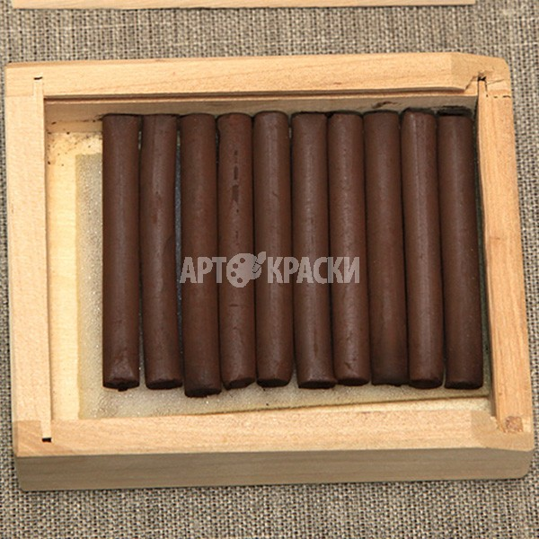 Сепия темная 10 шт в деревянном пенале
