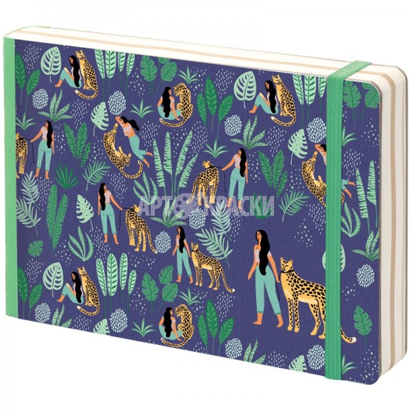 "Скетчбук для рисования Greenwich Line ""Lovely Leopard"" 12х18 см 80 листов"
