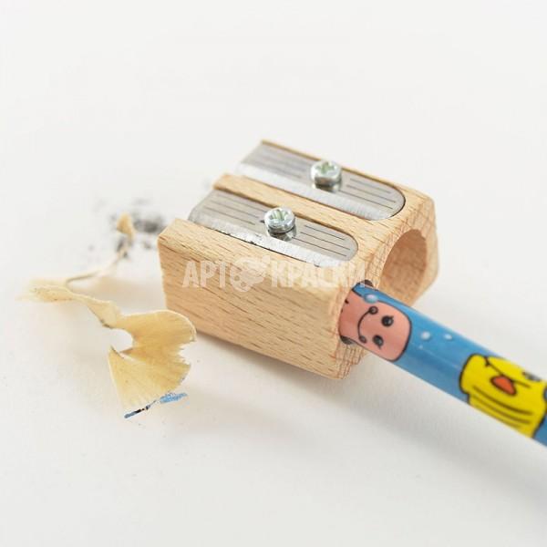 Точилка для карандашей двойная деревянная Koh-I-Noor 9095