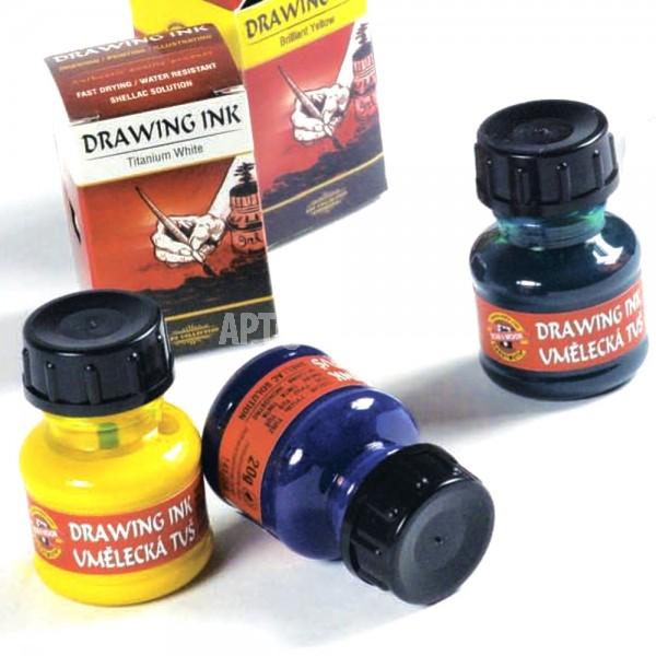 """Тушь для рисования Koh-I-Noor """"ARTISTS DRAWING INK"""" 20мл поштучно"""