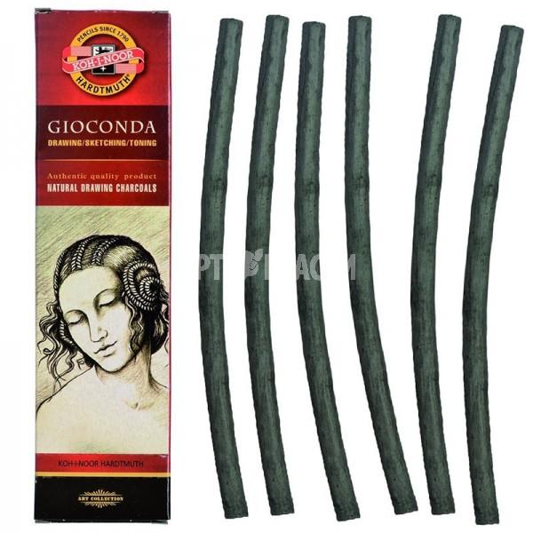 """Уголь для рисования Koh-I-Noor """"Gioconda"""" Charcoal Ø 6-7 мм, 6 шт"""