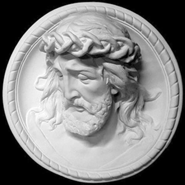 Барельеф Иисуса из гипса