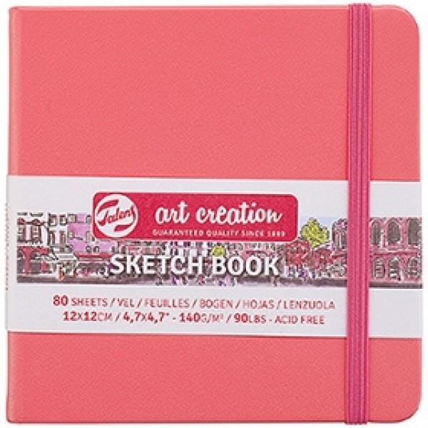 """Cкетчбук для рисования Royal Talens """"Art Creation"""" коралловый 12х12 см 80 листов"""