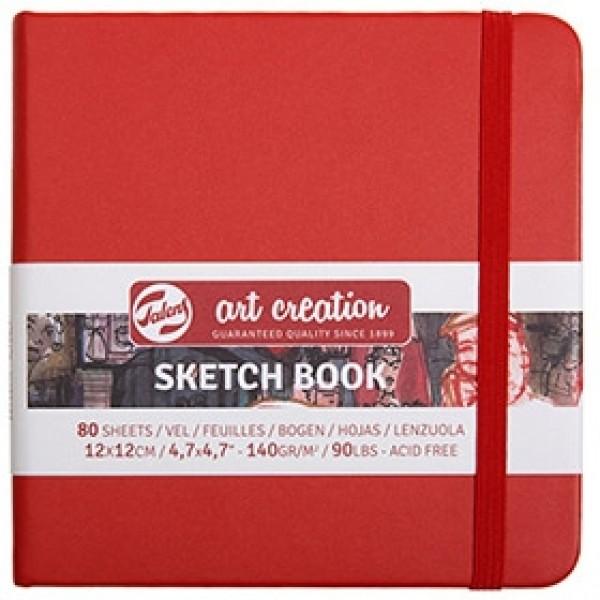 """Cкетчбук для рисования Royal Talens """"Art Creation"""" красный 12х12 см 80 листов"""