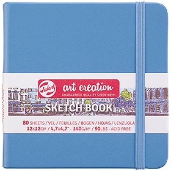 "Cкетчбук для рисования Royal Talens ""Art Creation"" синий 12х12 см 80 листов"