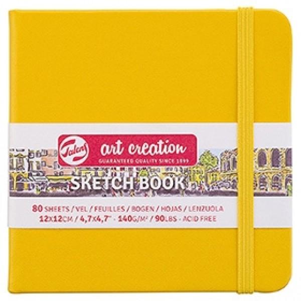 """Cкетчбук для рисования Royal Talens """"Art Creation"""" желтый 12х12 см 80 листов"""