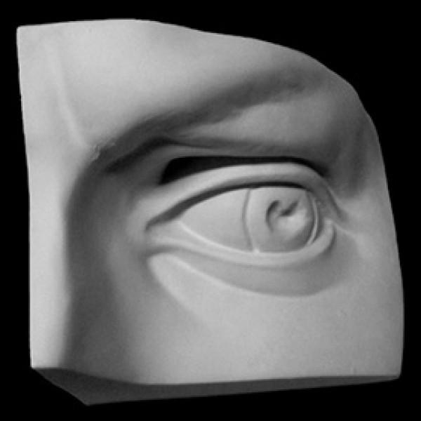 Глаз Давида левый из гипса