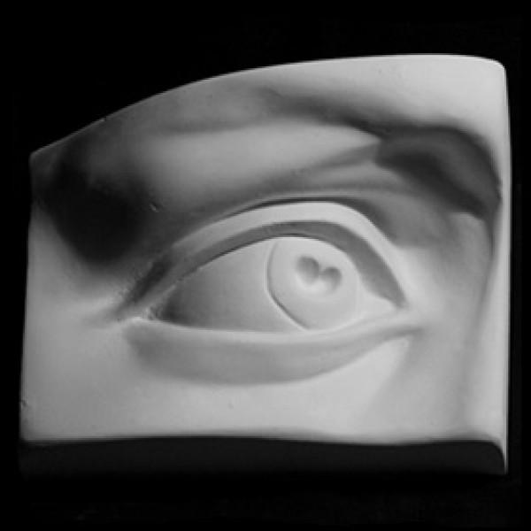 Глаз Давида правый из гипса