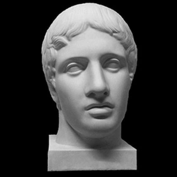 Голова Дорифора из гипса