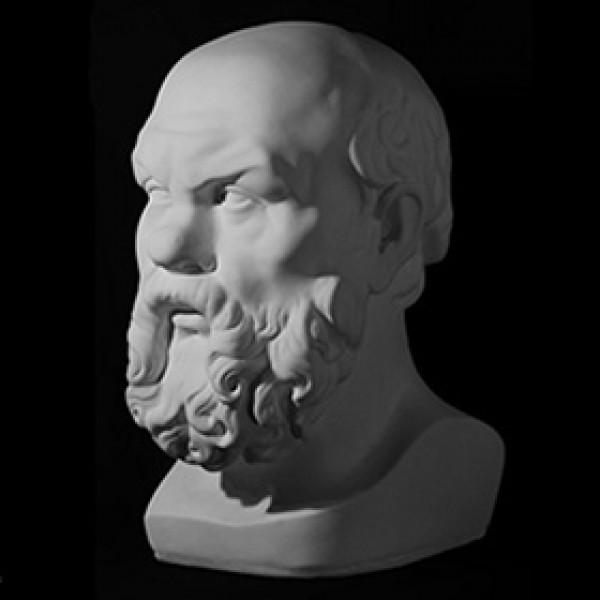 Голова Сократа из гипса