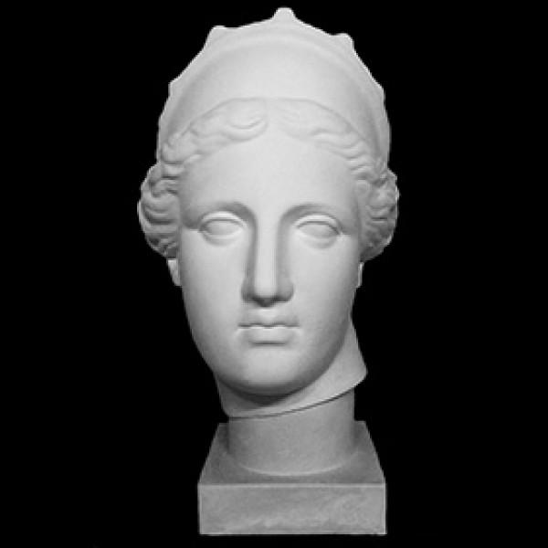 Голова Венера Капуа с кокошником из гипса