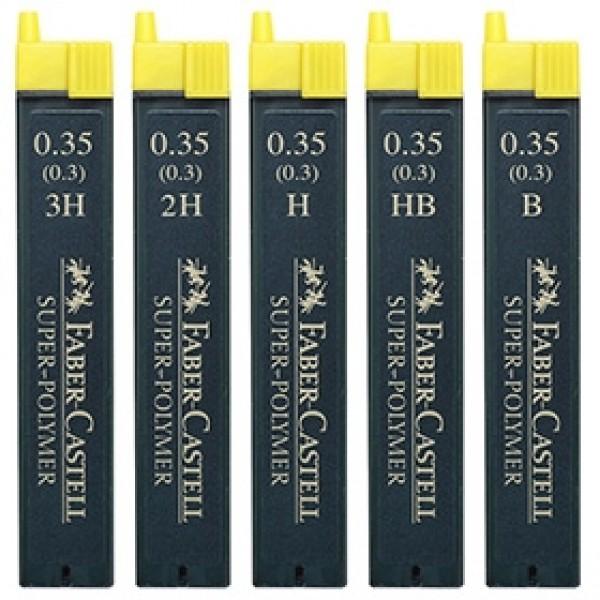"""Грифели для механических карандашей 0.35 мм Faber-Castell """"Super-Polymer"""" 12 шт"""