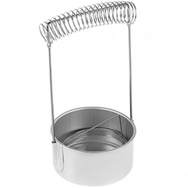 """Кистемойка алюминиевая """"Сонет"""" высота 18см диаметр 10,5см"""